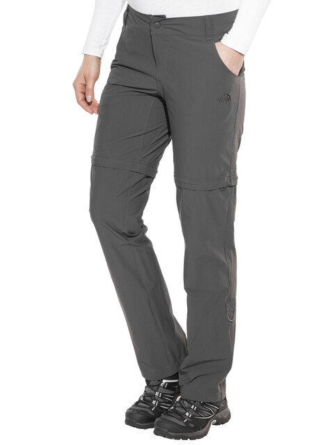 The North Face W's Exploration Convertible Pant Asphalt Grey